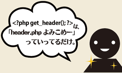 header.phpの読み込み